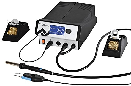 Ersa i-CON VARIO 2 Mehrkanal-Löt, Entlötstation 200 W, 230 V mit i-Tool Air S und Chip antistatisch, 0ICV2000AC