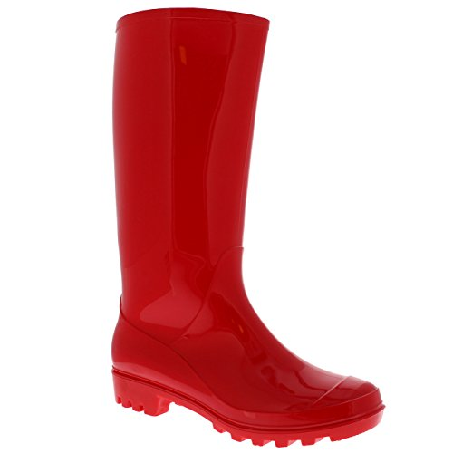 Polar Producten Womens Originele Lange Wintersneeuwwellingtons Muck Waterdichte Laarzen Rood Gloss