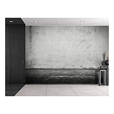 Marvelous Piece, Black and Gray Grungy Painted on Wall Wall Mural Removable Vinyl Wallpaper, Crafted to Perfection