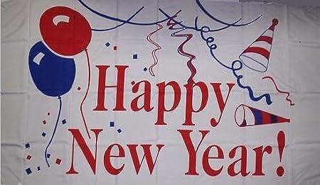 Feliz año nuevo 3 x 5 nuevo cartel grande 1 - Ideal para la ...