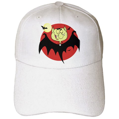 Blonde Designs Happy and Haunted Halloween - Halloween Silly Bat Vampire - Caps - Adult Baseball Cap (Blonde Engraved Bat)