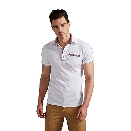 エーアイドット メンズ ポロ シャツ polo Tシャツ イギリス風 ゴルフ 重ね着風 オシャレ