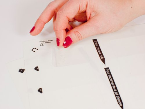 The Mighty Badge Insert Sheet Refill Kit, 1.50ʺ X 2.75ʺ, Clear, Inkjet ()