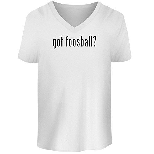 BH Cool Designs got Foosball? - Men's V Neck Graphic Tee, White, (Voit Tabletop)