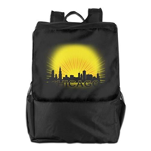 Backpack Hgfdhfgjrfj Chicago Bookbag Skyline School Women Men Travel College Sun Laptop Oq0Bwq