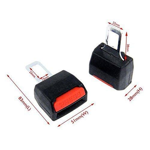 2 x Belt Clip Hooks sound Alarm auto car Safety Seat tuning