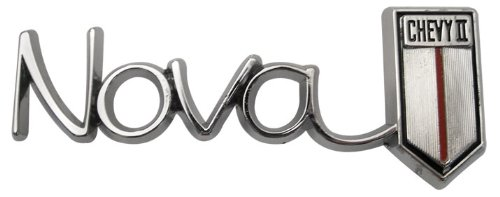 """Trim Parts 3039 Glove Box Door Emblem 1966 Chevy II//Nova /""""Nova//Chevrolet II/"""""""