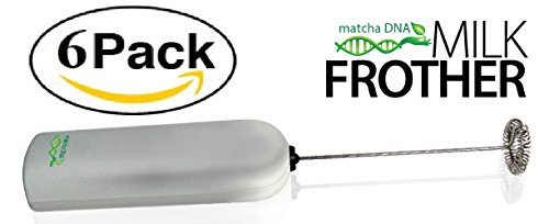 MatchaDNA Handheld Electric Milk Frother (Round Tip - 6 PACK)