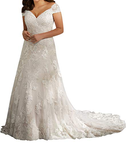 Wedding Dress Lace Bridal Dress Mermaid Off Shoulder Wedding Gown Plus Size Sweetheart White