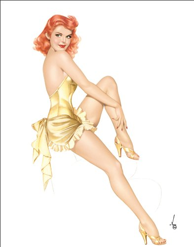 828db092c Amazon.com  Alberto Vargas (Vargas Girls) Redhead Wearing Gold ...