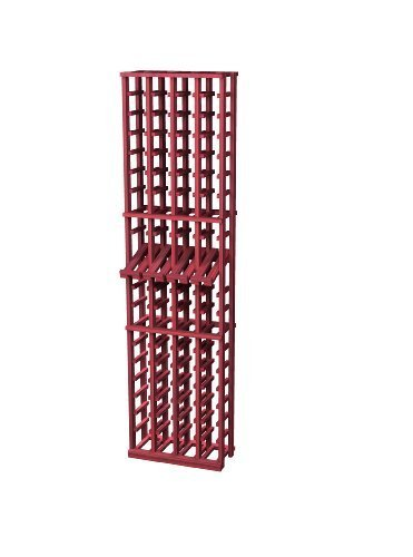 Traditional Premium Redwood Wine Rack with Display Row for 80 Wine Bottles, 4-Column, Classic Mahogany Stained by Wine Cellar Innovation