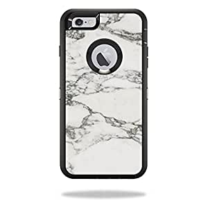 MightySkins Protective Vinyl Skin Decal for OtterBox Defender iPhone 6/6S Plus wrap cover sticker skins White Marble