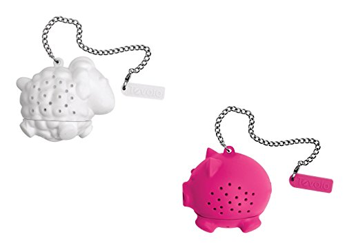 Tovolo Silicone Tea Infuser - Sheep and Pig, Set of 2 by Tovolo