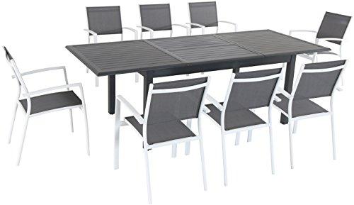Cambridge TURNDN9PC-WHT Turner Expandable Dining Set, Gray -