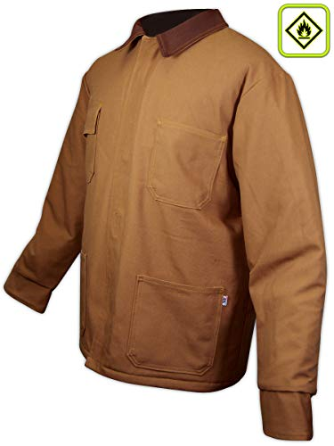 Magid Glove & Safety ARCIC49BD-L Magid A.R.C. 11 oz. NFPA 70E Compliant Arc-Rated Chore Coat, Large, Grey Brown, Large