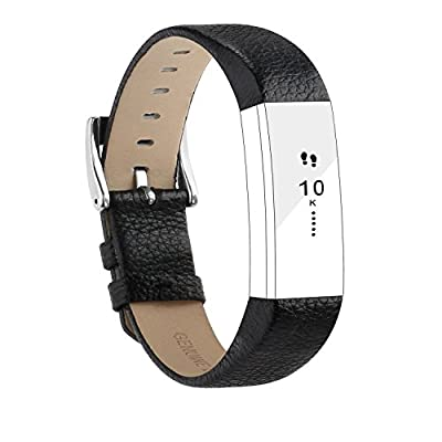 For Fitbit Alta HR Bands/Fitbit Alta Bands, Genuine Leather Replacement Bands for Fitbit Alta and Fitbit Alta HR