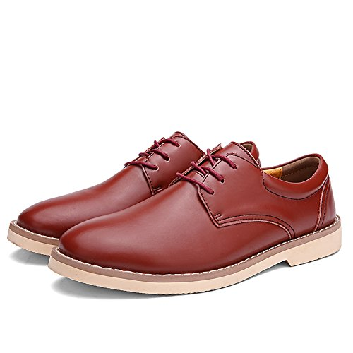 Aller Tour Hommes Gordon Cap-toe Oxford Rouge