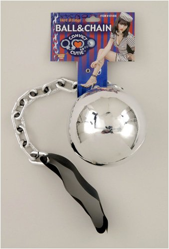 Forum Novelties Women's Convict Cutie Novelty Ball and Chain, Silver, One Size