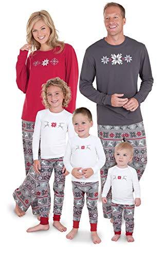 Xmas Pjs For Family (PajamaGram Family Christmas Pajamas Set - Soft Family Pajamas, Gray, Toddler,)