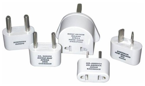 Franzus NW-1C Individual Adapter Plugs - Europe, Middle East, Parts of Africa, Asia, Carribean (Pack of 2)