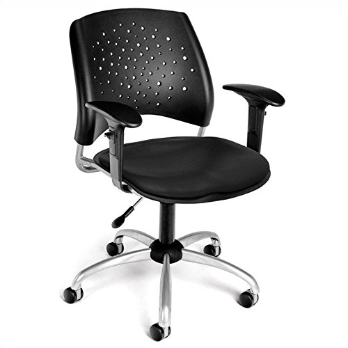 OFM 326-VAM-AA3-606 Stars Swivel Chair with Arms and Vinyl S