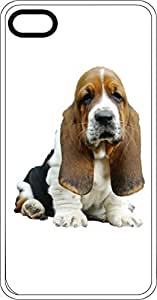 Droopy Ears Basset Hound White Rubber Case for Apple iPhone 5 or iPhone 5s by Maris's Diary