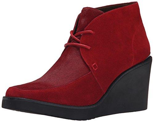 Donald J Pliner Womens Dakota-H1 Chukka Boot Crimson Haircalf