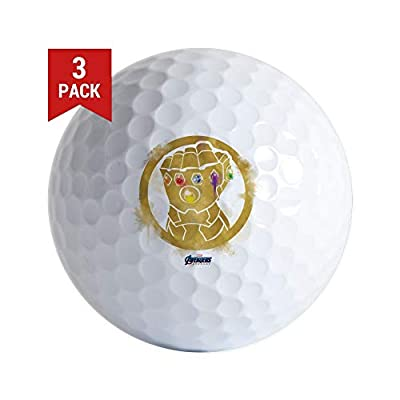 CafePress Gold Infinity Gauntlet Golf Balls (3-Pack), Unique Printed Golf Balls