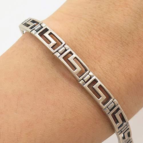 FAS 925 Sterling Silver Modernist Link Bracelet 6 3/4