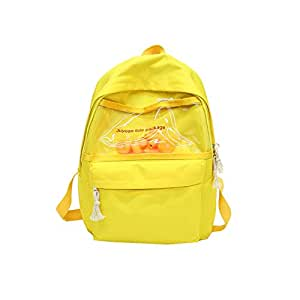 Leng QL Personality Backpacks Cartoon Leisure Schoolbag Cute Duck Funny Backpack Casual Rucksack