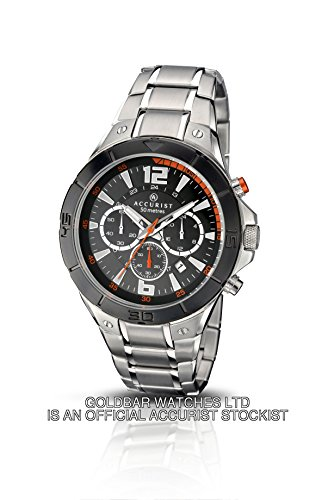 Accurist Mens Black Dial Chronograph Watch 7086