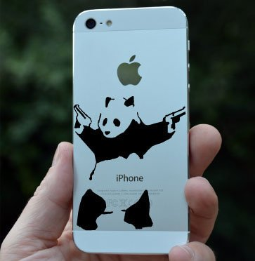 Amazoncom Shooting Panda IPhone Android Phone Vinyl Decal - Vinyl decals for phone cases
