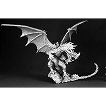 Amazon.com: Reaper Bones: Cinder, Fire Dragon by: Toys & Games