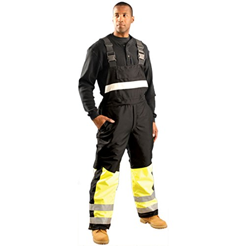 Speed Collection Premium Cold Weather Bib Overalls - Class E - X-LARGE (Class Overalls 3 Ansi)