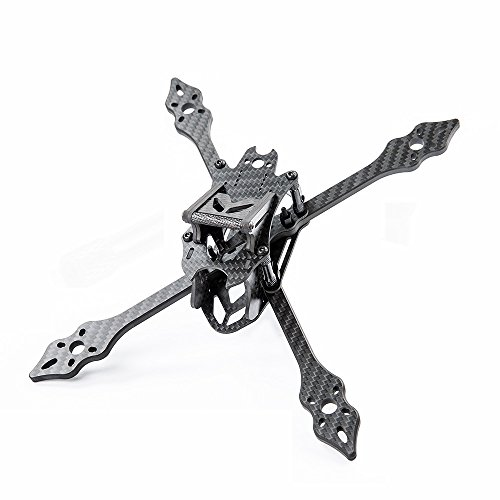 nidici Black Pearl X5 210mm Stretch X Frame 5.5mm Removable Arm 3mm Gopro Mount Plate FPV Carbon Fiber Racing Quadcopter Kit Compatible Foxeer Monster Runcam Swift 2 Camera