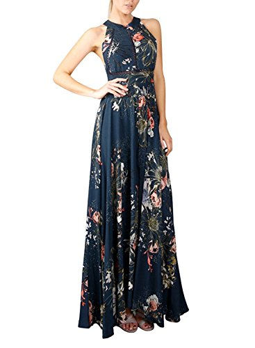 ZESICA Womens Halter Floral Backless product image