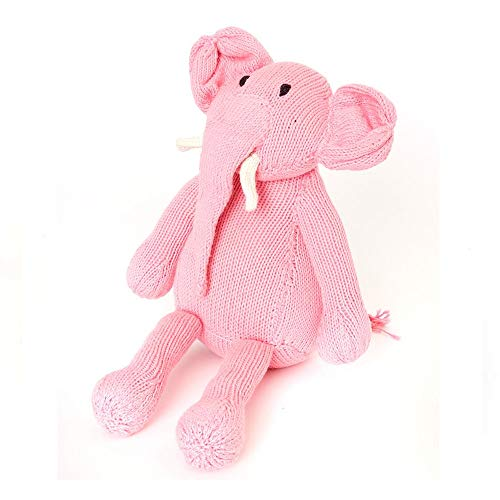 Swahili Modern Organic Cotton Hand-Knit Pink Icing Ellie The Elephant