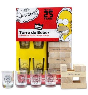 Juego De Apilar De Los Simpsons Con Castigos Por Bloque De Madera