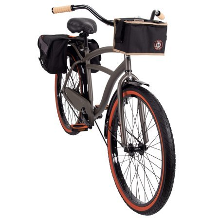 "Huffy 26"" Surfside Mens Cruiser Bike with Frame, Charcoal"