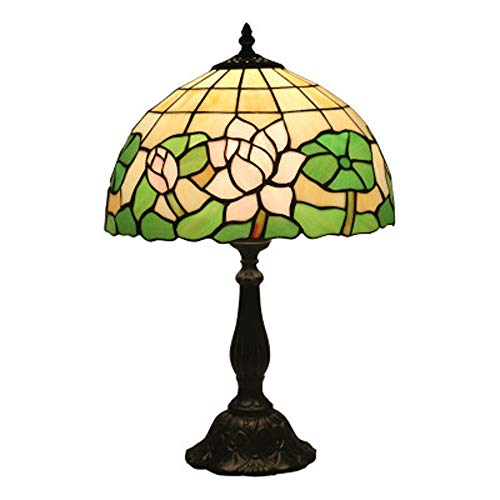 XYQS Tiffany Style Creative Lotus Table Lamp European Night Light Lamp Study Lighting for Living Room Bedroom Bedside Lamp