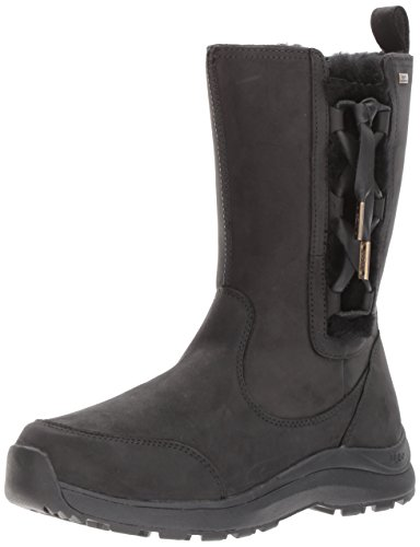 UGG Women's Suvi Snow Boot, Black, 8.5 M US