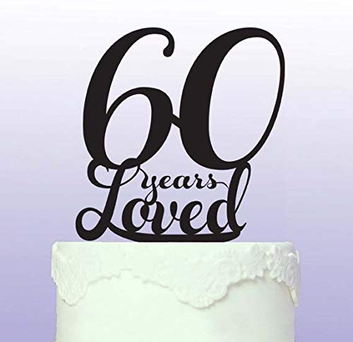 Beautiful 60th Cake Topper by Tamengi