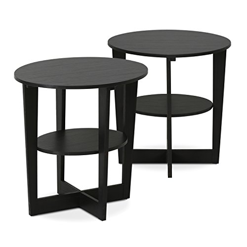 Furinno 2-15019WN End Table, Two, ()