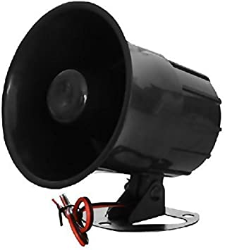 XINFLY Wired Alarm Siren Horn 1-tone 15W DC 12V Outdoor with Bracket for Home...