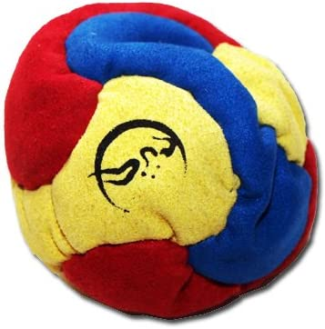 Flames N Games 6 Panel Hacky Sack Blue//Red//Yellow