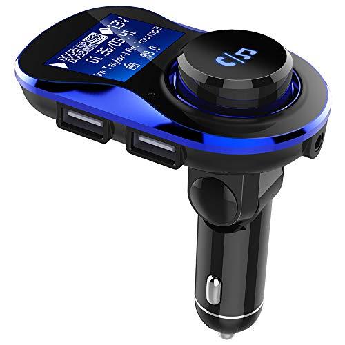 Christmas Hot Sale!!Kacowpper Car Kit Handsfree Wireless BT FM Transmitter LCD MP3 Player USB Charger - C60 Car