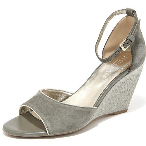 scarpa 85768 sandalo Verde zeppa FASCIA HOGAN donna H 227 shoe YvYr7Aq6