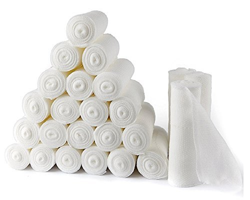 D&H Medical Gauze Stretch Bandage Roll Tape Used For Wound Care Dressing (First Aid Tape Gauze & Pads)