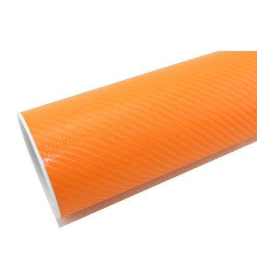 Xingyuan 4D Carbon Fibre Vinyl Film with Free Bubbles for Car Smooth Surface Decoration 50x150cm Orange