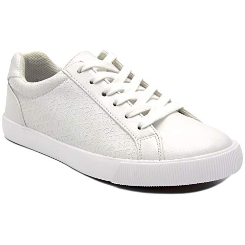 (Nautica Steam 4 Women Lace-Up Fashion Sneaker Casual Shoes -Dulcie-White-6.5)